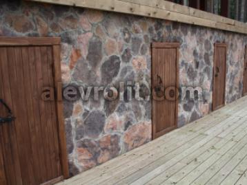 Облицовка фасада камнем естественной формы Алевролита