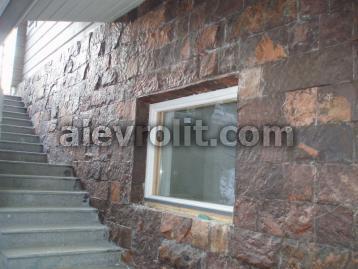 Облицовка фасада камнем - пиленый Алевролит