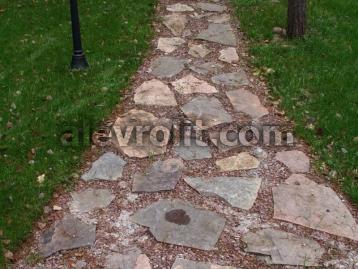 природный камень Алевролитовый сланец - дорожка из плитняка