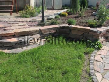 Садовая подпорная стенка из Алевролита